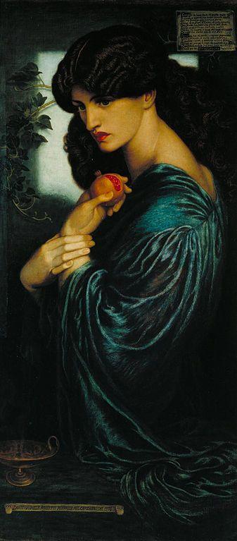 Dante Gabriel Rosseti Proserpina 1874